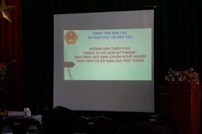 TẬP HUẤN TRIỂN KHAI THÔNG TƯ SỐ 20/2018/TT-BGDĐT